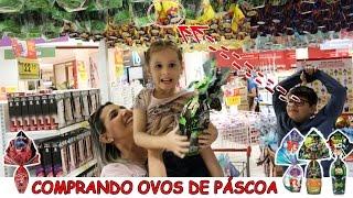 COMPRANDO OVOS DE PÁSCOA 2017 - PRINCESA ARIEL, LADYBUG, BEN 10
