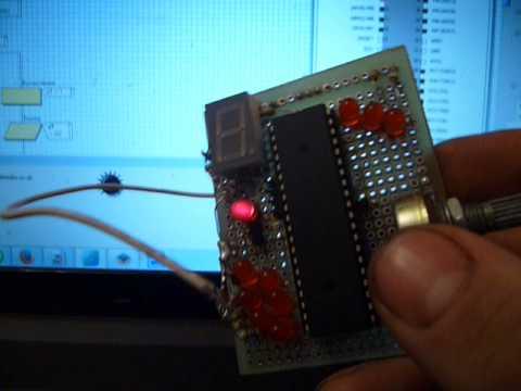 Приложение к видео Flowcode для микроконтроллеров AVR аналоговый вход