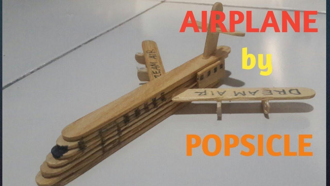 Cara Membuat Pesawat dari Stik Es Krim - YouTube