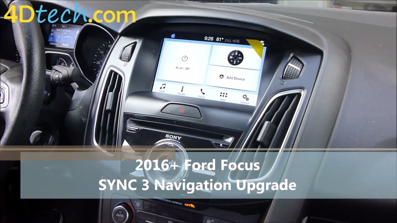 Add Factory Navigation To Sync 3 2016 Ford Focus