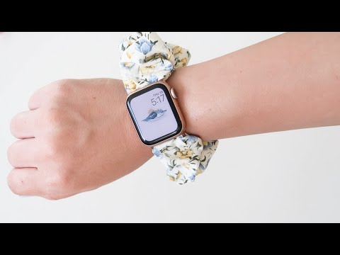 HOW TO MAKE A SCRUNCHIE APPLE WATCH BAND DIY - YouTube