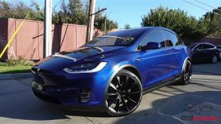 Tesla Model X 75D - Deep Blue Metallic - CQuartz Finest Reserve and XPEL Ultimate PPF
