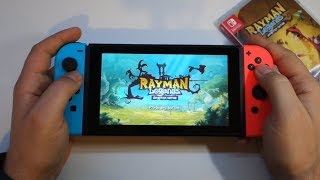 Rayman Legends Definitive Edition - Nintendo Switch gameplay + unboxing game card