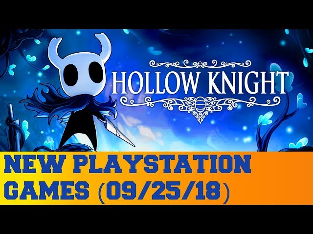 New PlayStation Games for September 25th 2018