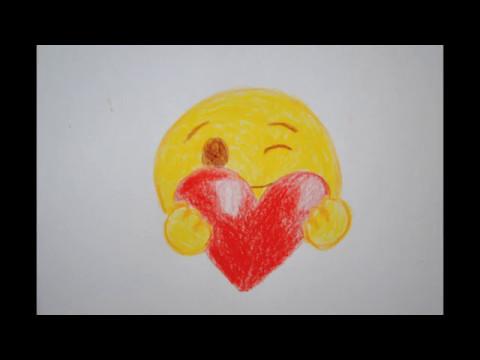 Smiley mit Herz zeichnen zu Muttertag - How to Draw a Smiley with Heart - Happy Mothers day
