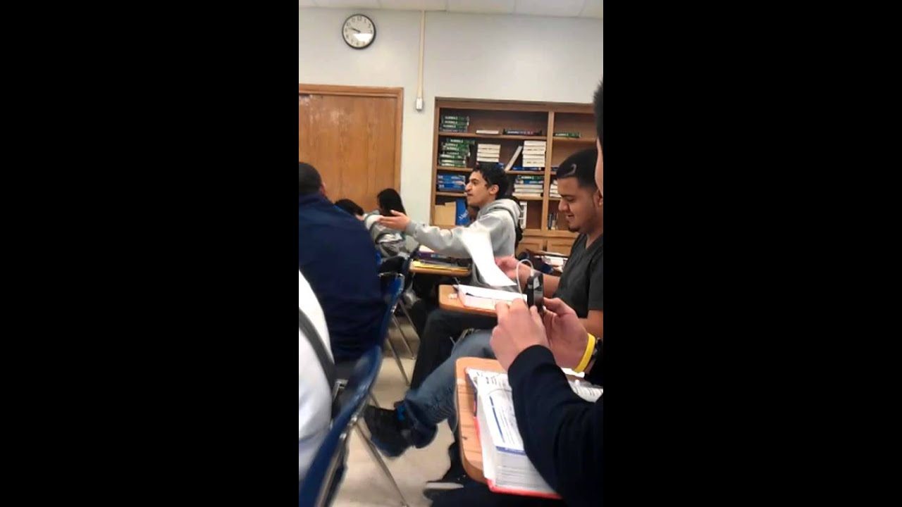Download Substitute teacher and Student argue/almost fight