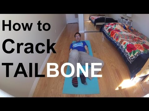 How to Crack Tailbone (major adjustment) Chiropractor Not Needed