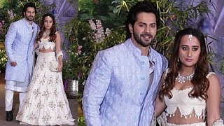 Varun Dhawan With His Girlfriend Natasha Dalal At Sonam Kapoor's GRAND Wedding Reception