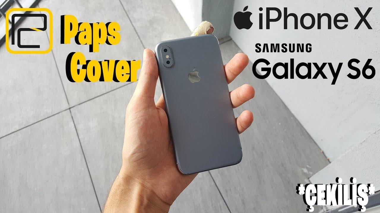İphone X ve Galaxy S6 (3D) Kaplamak! Paps Cover ile Telefon Papslıyoruz! *ÇEKİLİŞ*