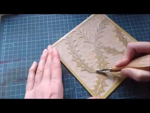 Lino printing tutorial - two colour reduction print