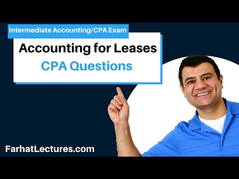 How to answer CPA exam Questions Accounting for Leases