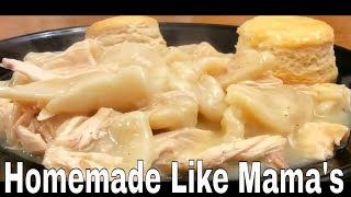 1.24.18 Making Chicken and Dumplings for Supper, How to Cook Like Mama