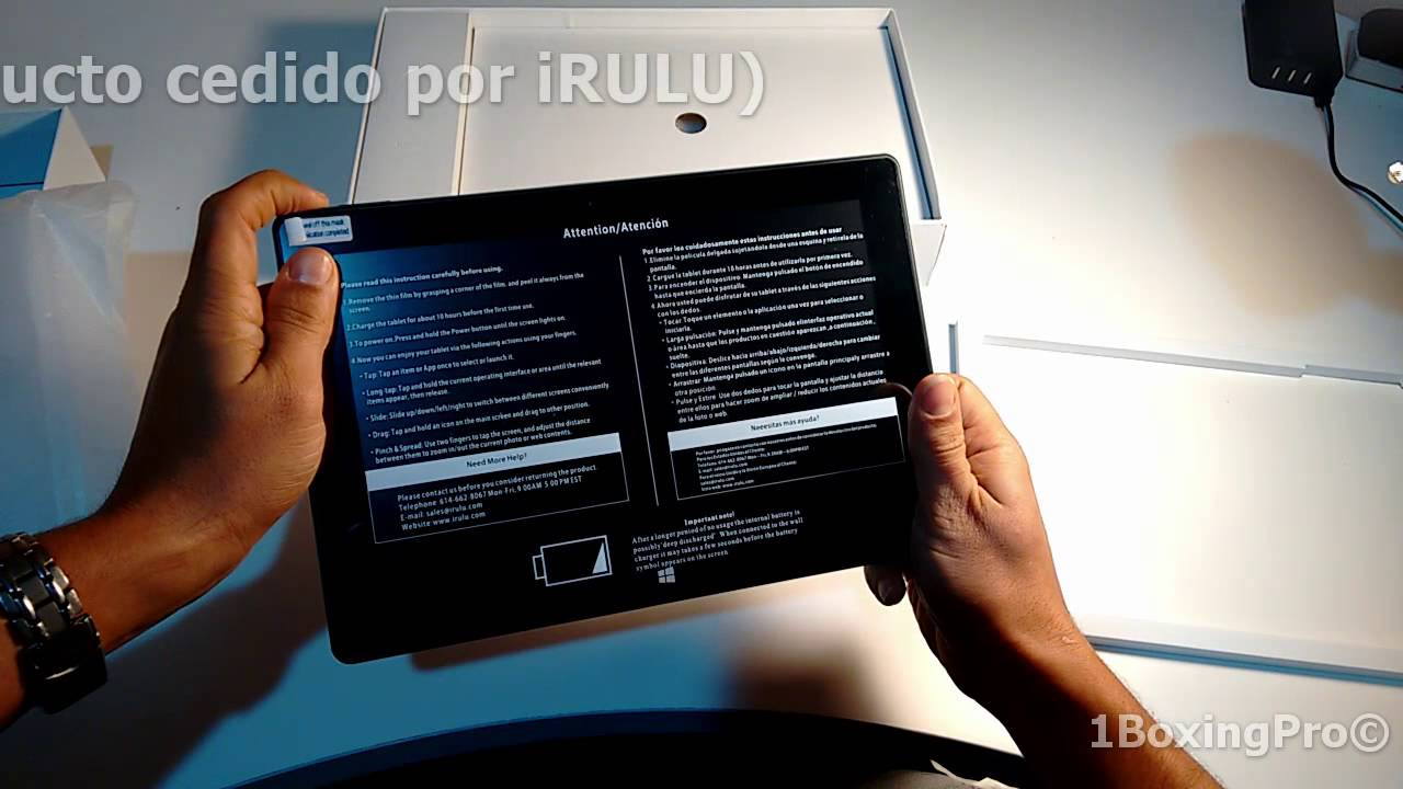 Unboxing, Review iRULU Walknbook - Tablet-Portátil 10 1 pulgadas con  Microsoft Windows 10 IPS
