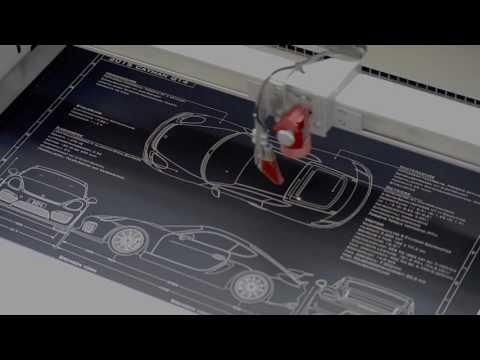 Black Art Graphics Cayman GT4 Blueprint in manufacture