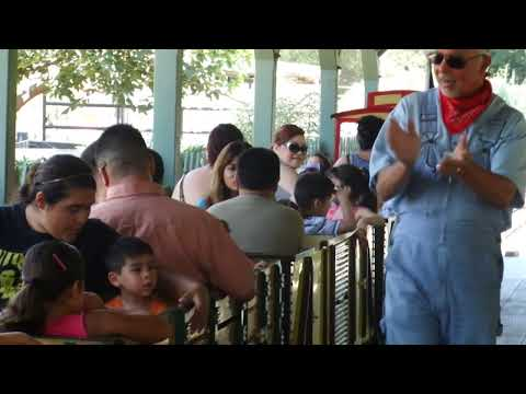 Santa Ana Zoo Zoofari Express Train Ride