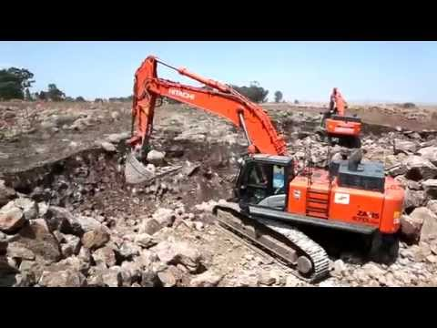 Large Hitachi Zaxis-5 excavators at work in Israel
