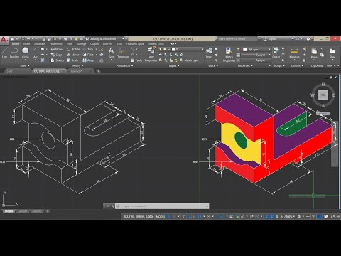 How To Draw Isometric Drawing In AutoCAD 2018