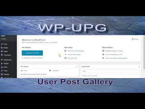 Install Wordpress  UPG (User Post Gallery) Plugin