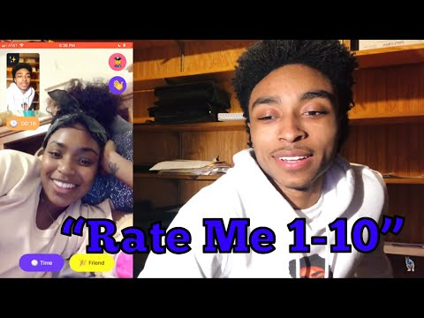 TELLING RANDOM GIRLS TO RATE ME 1-10 😍😏 *SHE CAPPING* | MONKEY APP