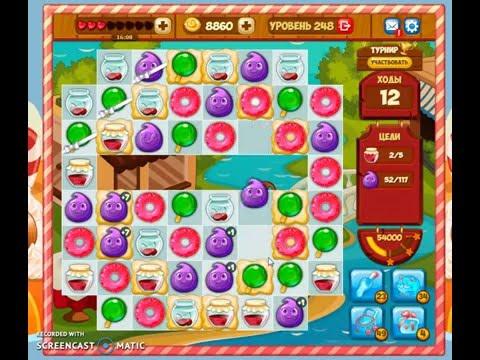 Как пройти 242 уровень в игре долина сладостей