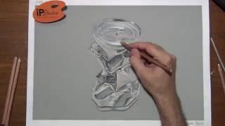 WIP - Desenhando com Efeito de Metal - speed drawing - Curso de Desenho Presencial com a IPStudio