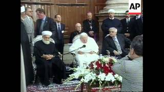 Pope's historic visit to Omayyad Mosque