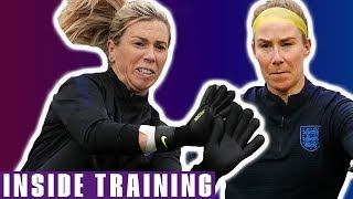 Lionesses Pull Off INCREDIBLE Stops! | England v USA | Inside Training | Lionesses