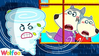 Wolfoo, Go Indoors Quickly to Be Safe - Learn Safety Tips for Kids in the Rain | Wolfoo Channel