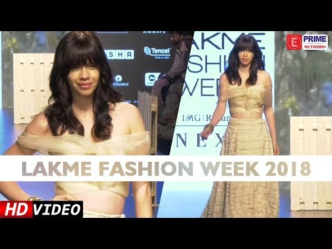 Kalki Koechlin In Jade Designed Outfit At Lakme Fashion Week 2018   EPN