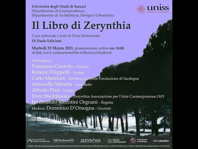 IL LIBRO DI ZERYNTHIA - Università degli Studi di Sassari, Italy