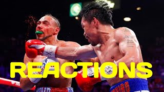 MANNY PACQUIAO VS. KEITH THURMAN HIGHLIGHT REACTIONS