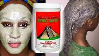 Aztec Secret Indian Bentonite Clay Review and Demo on Natural Hair and Skin | Shlinda1