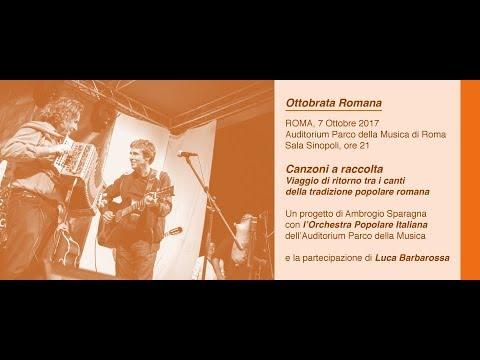 Ottobrata Romana - Ambrogio Sparagna LIVE @ Auditorium parco della Musica - CONCERTO - www.HTO.tv