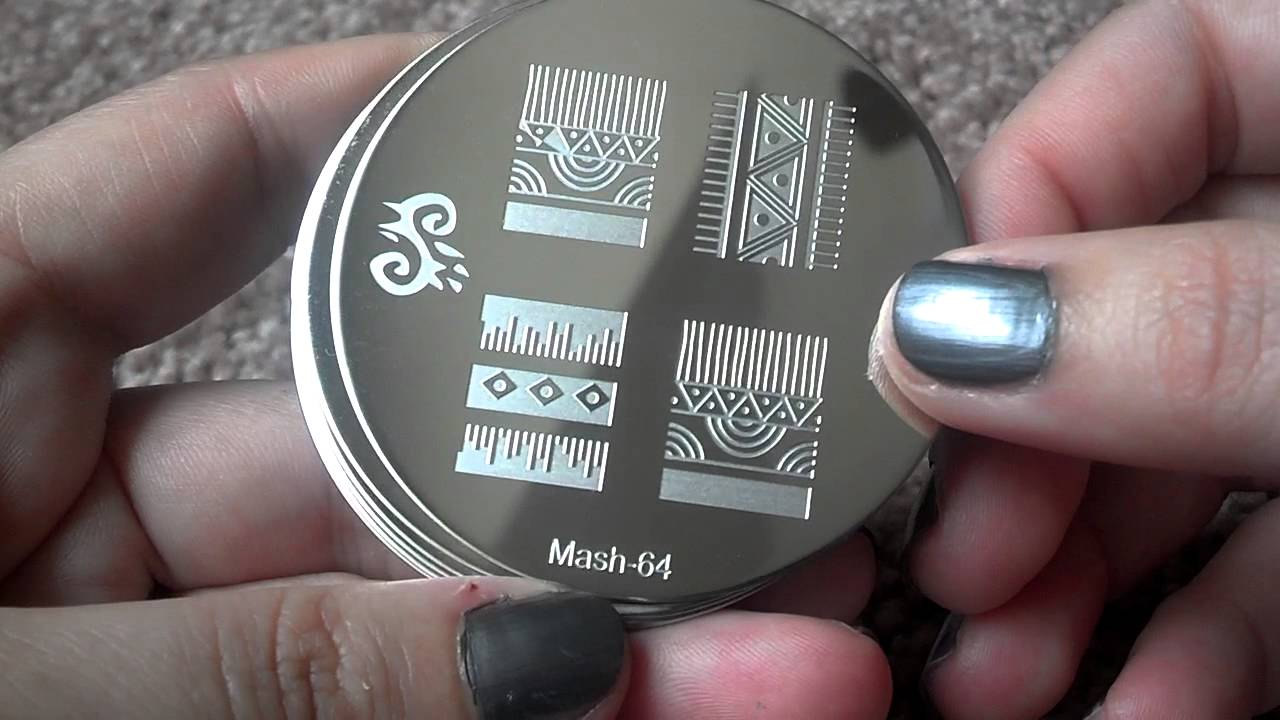 NEW MASH 2013- Nail art plates 51-75 - YouTube