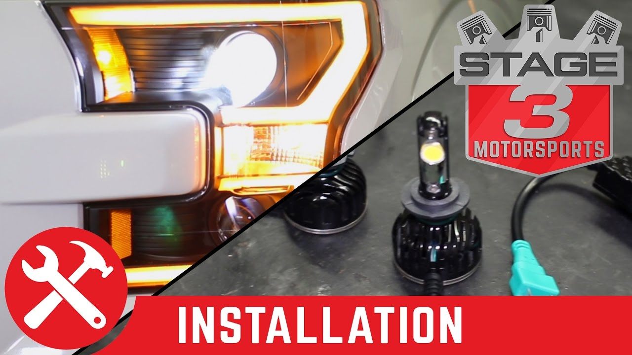 2015 2017 anzo led switchback outline projector headlights and oracle led headlight bulb install youtube [ 1280 x 720 Pixel ]