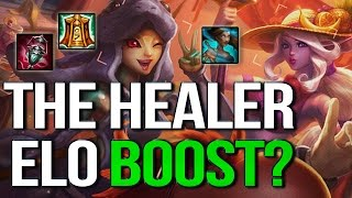 THE HEALER ELO-BOOST? The Strongest thing in 6.15? (League of Legends)(I think this might actually be the strongest thing in Patch 6.15 right now and definitely a way to win games you'd normally lose. Counter: Rammus+Thornmail ..., 2016-07-26T18:00:32.000Z)
