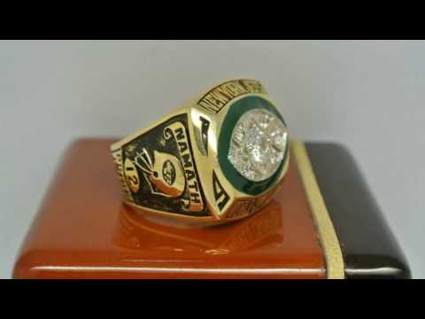 New York Jets 1968 NFL Super Bowl III Championship Ring