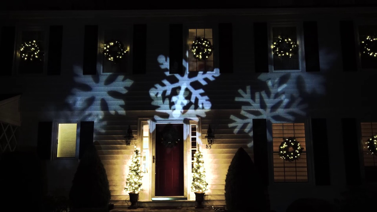 Snowflake Christmas Lights.Outdoor Led Snowflake Christmas Light Projector With Remote Control
