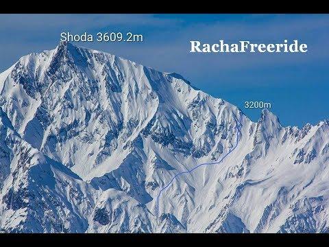 First descent from Shoda mount ridge. Elevation 3200. Higher Racha, Georgia, Caucasus.