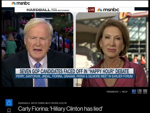 Carly Fiorina DESTROYS Hillary Clinton in Interview with Chris Matthews