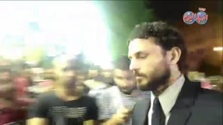 حسام غالى يصل عمرو مكرم لتقديم واجب العزاء فى وفاة طارق سليم