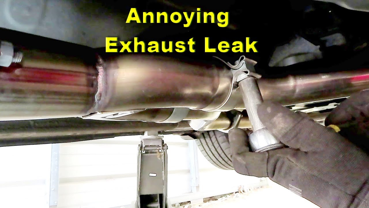 the way i fix leaky exhaust band clamps flanges flares donut gaskets slip joints seal anything