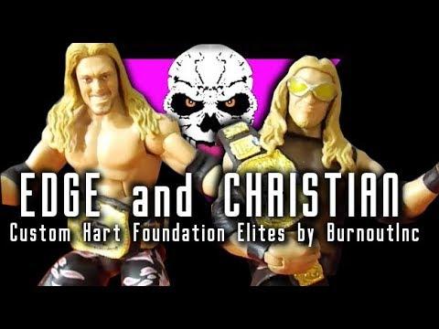 EDGE and CHRISTIAN - Custom Mattel WWE Elites by BurnoutInc