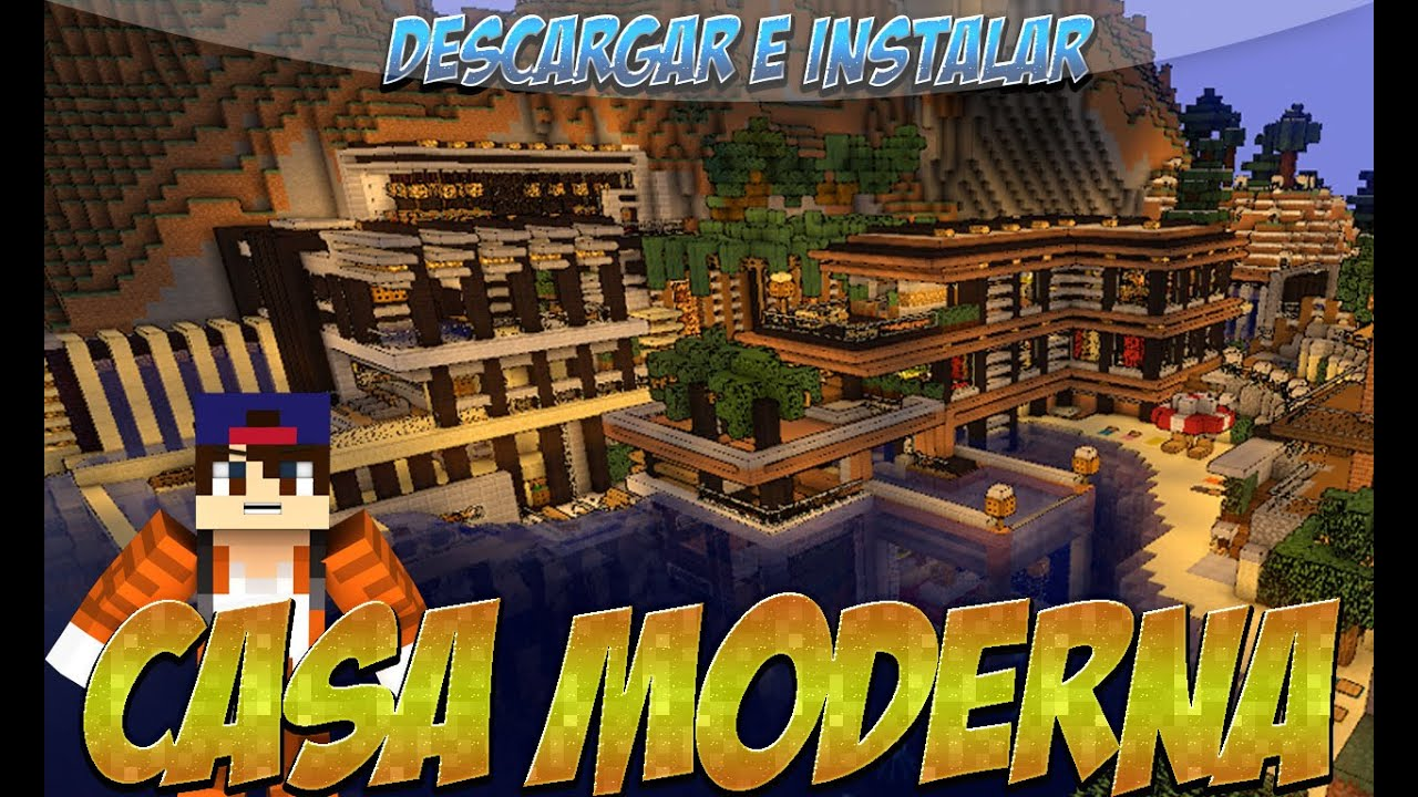 Minecraft 1 8 9 1 8 8 1 8 1 descargar e instalar for Casa moderna 1 8