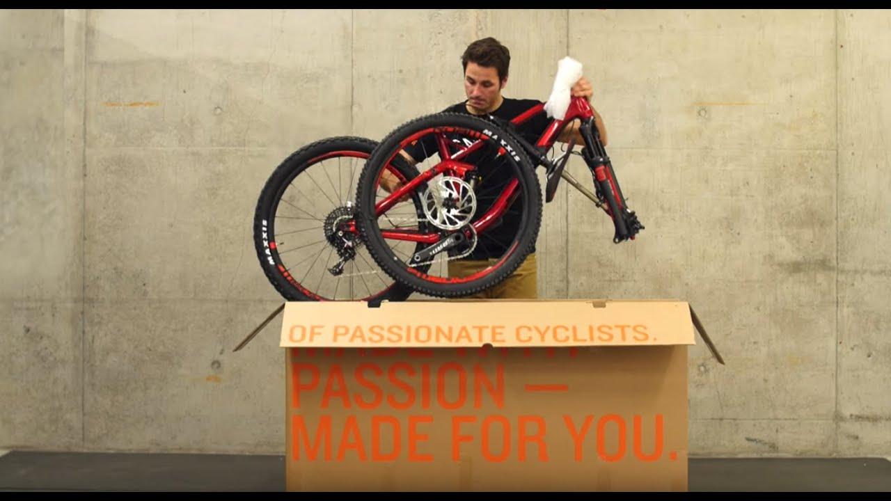 Oversize Specialized Bike Cycling Cardboard Shipping Box Frame Wheels Full Bike