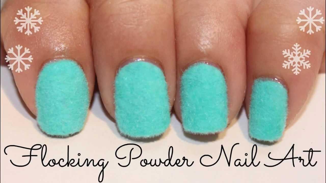 Flocking Powder Nail Art - YouTube