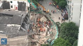 Building under renovation collapses in Shanghai