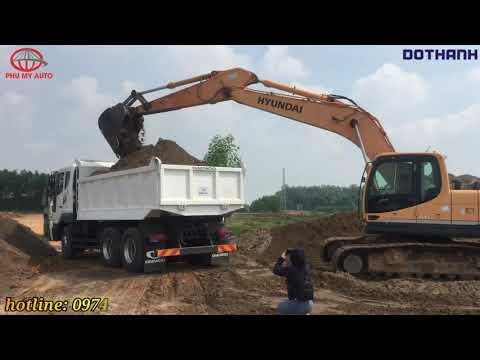 Thử tải Thực tế // Sức mạnh chiếc xe ben Daewoo Euro 4 ga điện Nhập khẩu Hàn Quốc.