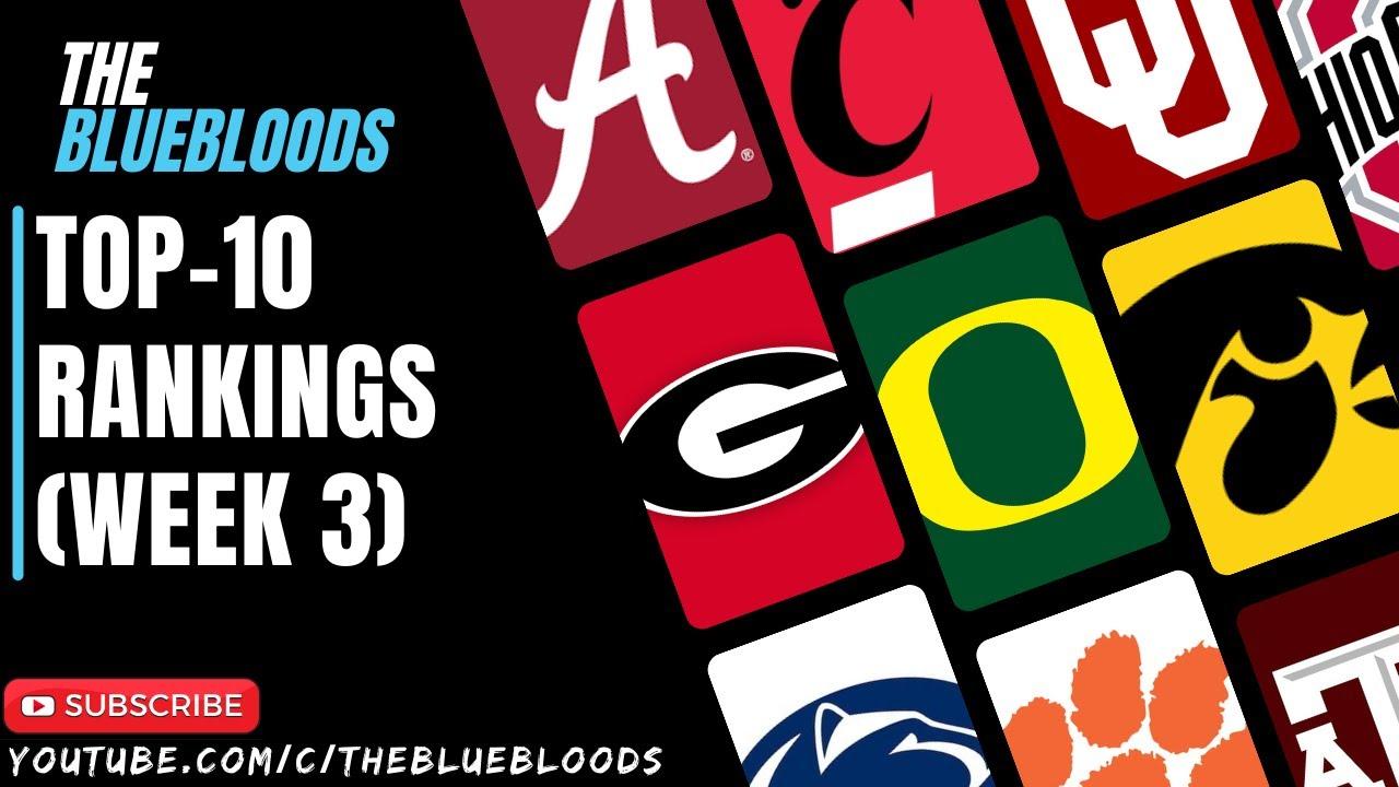 Download 2021 College Football Top-10 Rankings (Week 3) | The Bluebloods