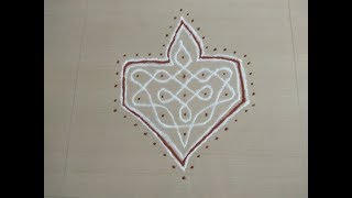 simple sikku kolam with 5 to 2 dots/everyday kolam with 5 dots/easy sikku kolam/neli kolam/dot kolam
